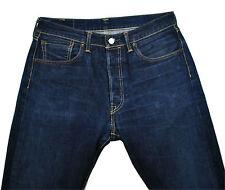 Levi's 501 Redline Selvedge Jeans 33 x 32 Distressed Washed Indigo No Big E LVC