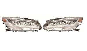 Left Right Genuine Headlights Headlamps Pair Set For Accord Sedan Touring Honda