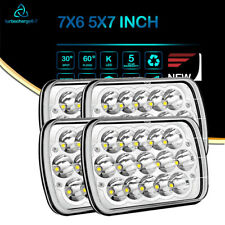 "7x6"" Black LED Headlight for Chevy Express Cargo Van 1500,2500,3500 C10 Truck 2X"