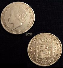 *GUTSE*348-ALFONSO XIII, 50 CÉNTIMOS 1894*9-4 MADRID PG V, EBC