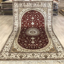 YILONG 5'x8' Red Home Decor Classic Hand Woven Silk Rug Hand Knotted Carpet 483C