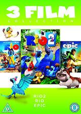 DVD:RIO 2 / RIO / EPIC - 3 FILM COLLECTION  - NEW Region 2 UK