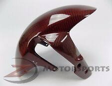 2005-2008 GSXR1000 GSX-R1000 Front Tire Fender Mud Fairing Cowl Carbon Fiber Red