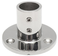 """Rail/Stanchion Round Base 316 Stainless Steel Boat for 7/8"""" 22mm Tube 90 Degree"""