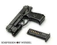 """US 1/6 Gun Model QSZ92 Semi-automatic Pistol Rifle Plastic Gun Toys F 12"""" Figure"""
