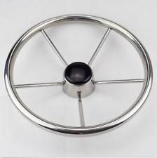 Boat steering wheel 13-1/2 inch stainless steel 5 spoke
