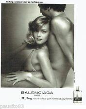 PUBLICITE ADVERTISING 116  1977   Balenciaga eau toilette Ho Hang