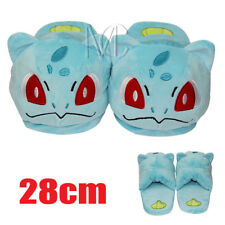 Pokemon Bulbasaur Soft Slippers Cosplay Warm Plush Shoes for Adult
