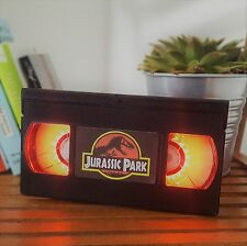Retro VHS Night Light Desk Lamp Jurassic Park! Father's Day Gif. Office Man Cave