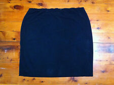 JANE LAMERTON WOMEN BLACK STRAIGHT SKIRT SIZE: 22 NEAR NEW