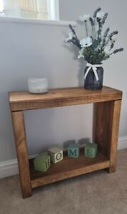 RUSTIC COFFEE/SIDE TABLE - BEDSIDE - SOLID CHUNKY PINE-FARMHOUSE - 5 WAX COLOUR