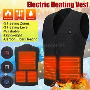 Lixada USB Beheizbare Heizjacke Thermo Weste Heizweste Wärmeweste 40-50-60℃ T1X2