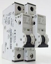 2x Siemens 5SY61 MCB C10 Leitungsschutzschalter Sicherungsautomat 10A 230/400V