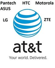 FACTORY UNLOCK Service АТТall models LG, HTC ,ZTE, ASUS - CLEAN IMEI FAST 10 min