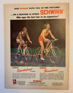 1978 Schwinn Bicycle Company Print Ad Original Sportabout Runabout Only $119.95