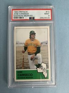 🔥⚾️ 1983 FRITSCH JOSE CANSECO MADISON MUSKIES ~ PSA 9 ~ FREE SHIPPING !!! ⚾️🔥
