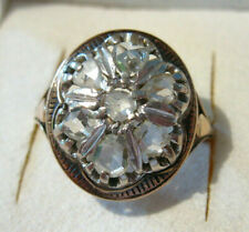 Damenring Antikring Brillanten Diamanten Altschliff Rosendiamanten 14 Karat RG57