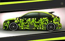 Camouflage Aufkleber Set Cyber Pixel Autotattoo Auto Sticker Tuning JDM 7.2110