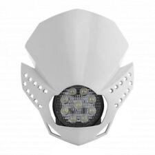 MASCHERINA PORTAFARO A LED [ACERBIS] FULMINE - UNIVERSALE PER MOTO - BIANCA