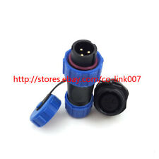 SP13 3pin Waterproof Connector, IP68 250V/13A AC/DC Circular Power Connector Kit