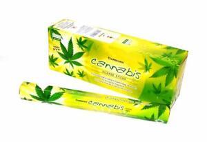 Darshan Cannabis Incense Sticks Natural Fragrance AGARBATTI 6 Pack Of 20 Sticks