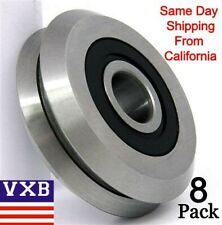 """Quality RM2-2RS 3/8"""" V Groove Roller Bearing Rubber Sealed Line Track (8PCS)"""