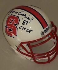 N C State Wolfpack Roman Gabriel signed Riddell Mini Helmet w/JSA & Inscription
