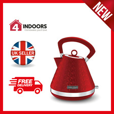 Morphy Richards 108133 Vector Pyramid 1.5L Kettle 3000w In Red - Brand New
