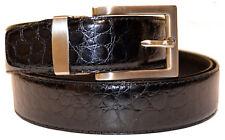 New Mens Black Baby Alligator Print Genuine Leather Classic Nice Fashion Belt