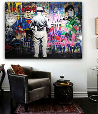 Mr Brainwash Sick Street Art  Grafitti -Street Art Pop Art Canvas Print 36 x24