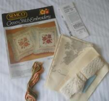 SEMCO X CROSS STITCH EMBROIDERY KIT 1294 PICTURE ROSE CUSHION #2