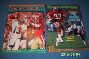 1985 Sports Illustrated SAN FRANCISCO 49ers vs Miami SUPER BOWL XIX No Label SET