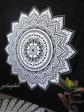 New Queen Floral Mandala Home Decorative Wall Hanging Bedspread Cotton Tapestry