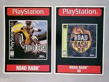Road Rash & Road Rash 3D  -Toys R Us Display Cards PlayStation 1 PS1 VidPro RARE