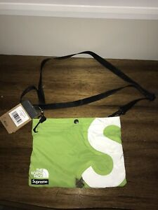 Supreme TNF S Logo Shoulder Bag Lime FW/20 Ready To Ship SURVIVED A SHOOTOUT