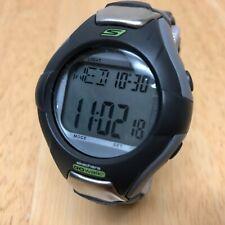 Unused GoWalk Skechers Men Gray Black Digital Alarm Chrono Watch Hour~New Batter