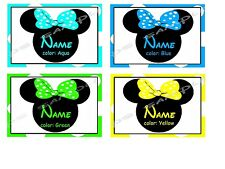 4x6 Disney Cruise Stateroom Door Magnet - MINNIE WITH YOUR CHOICE OF COLOR BOW