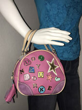 Auth DOONEY & BOURKE Pink & Purple w/ Charms MINI Round BOWLER BAG Star #3 ~ LE