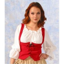 WOMAN RENAISSANCE PIRATE MEDIEVAL WRENCH BODICE LACE UP COSTUME VEST CORSET