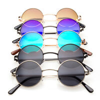 John Lennon Style Vintage Retro Classic Circle Color Round Sunglasses Men Women