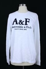 Abercrombie & Fitch Men's Long Sleeve Graphic Tee T Shirt Size Small White NWT