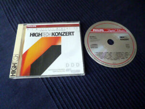 CD PHILIPS High Tech Konzert Hifi Vision Referenz PDO West Germany 1989 TEST