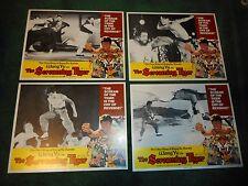 THE SCREAMING TIGER - ORIGINAL SET OF 8 LOBBY CARDS - 1973 - WANG YU