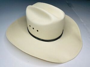*AUTHENTIC* Stetson 10x LLANO Men's Natural Beige Cowboy Hat; Made in USA; 7 1/8