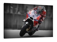 Andrea Dovizioso 30x20 Inch Canvas - LARGE Framed Picture Art Work Poster Ducati