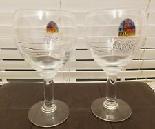 TWO COLLECTIBLE Leffe Belgian Beer 330ml Stem Goblet Glasses! FREE SHIPPING!