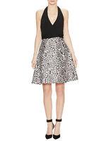 Diane Von Furstenberg 'AMELIA'  BLACK HALTER WRAP DRESS sz 12