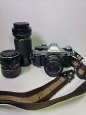 Canon AE-1 Program Camera w/ FD 50mm F/1.8 Lens  - Great Conditions  # 1217