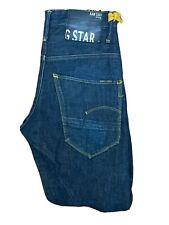 Original G-Star Arc Loose Tapered Thomas Embro Indigo Denim Jeans W28 L30 ES6603
