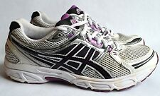 Women's ASICS Gel Contend Running Shoes Purple Black White T2N8N Size 9